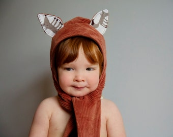 Animal Hooded Scarf - PDF PATTERN -  Sizes Infant to Adult
