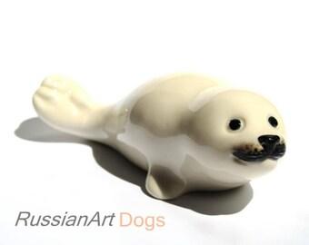 fur seal porcelain figurine,  statue