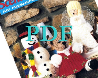 PDF - Winter Scent-Sations Air Freshener Covers, 7 crochet patterns, 1993