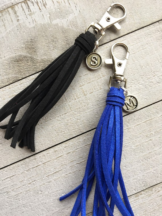 Mini Tassel Clip with Initial Charm (ST124)