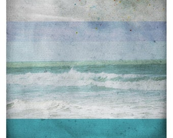 Ben Azur (Nature Photography - Fine Art Print - Waves- Ocean - Water -Still life - Nature - Monochromatic -paints - Turquoise - Blue)