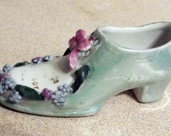 Vintage Petite Porcelain Victorian Shoe