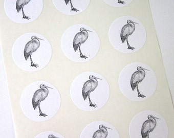 Stork Stickers One Inch Round Seals