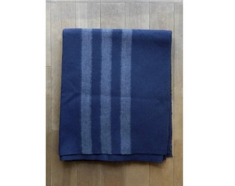 New 1980s Unissued Soviet Army Blue wool blanket military bedclothes spread Russian Communist Union navy
