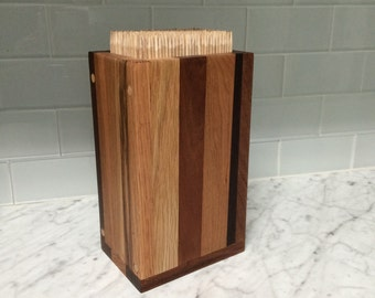 Wooden Skewer Knife Block