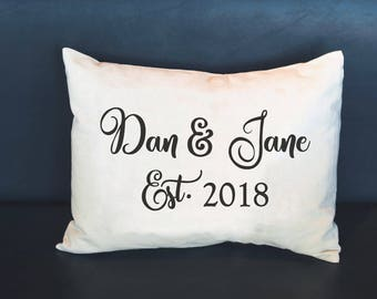 Personalized pillow, Couple names pillow, Valentines, anniversary gift, couples pillow, newlywed pillow, Personalized  Anniversary,