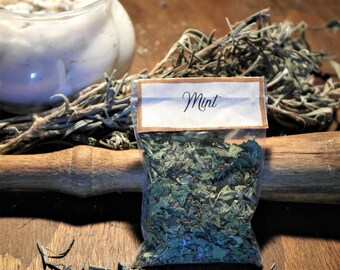 Chopped mint, 5 sachets of natural incense
