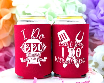 I Do BBQ, Wedding Shower, Bridal Shower, I Do Barbecue, BBQ Shower, Wedding BBQ, Custom Can Cooler, Personalized Can Cooler, Summer Wedding