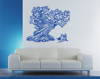 Old Tree Wall Decals Peacock Wall Decals Trees Decal Tree Mural Vinyl Wall  Decal Home Decor