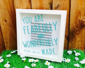 Bible Verse Print Frame, Fearfully and Wonderfully Made