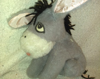 Vintage Winnie the Pooh EEYORE Doll - 10 inches tall