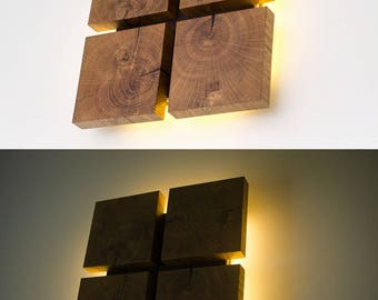 Wall lamp sc173 handmade wood lamp plug in wall sconce wall lamp wood decor22 handmade oak wood lamp sconce wood aloadofball Images