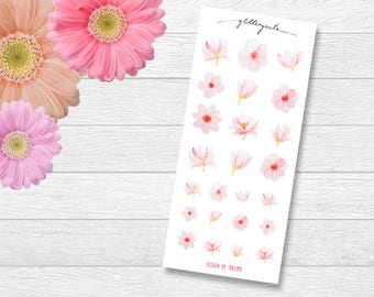 Cherry Blossom Spring Flower Planner Stickers