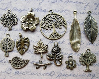 SALE - Tree and Leaf collection in Bronze Tone - C2527