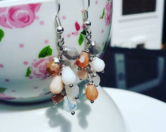 Cluster earrings clustered naturally beautiful neural drops