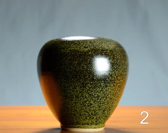 Black Gold Ceramic Vase, Hand Thrown Porcelain Pottery, Bathroom Storage, Centerpiece, Unique Gift Mom, Flower, Vessel   Caldwell Pottery