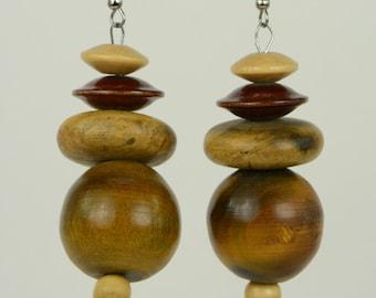RR#10 - Recycled Wooden Drop Earrings