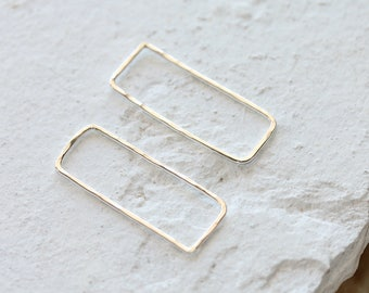 Sterling Silver Geometric Rectangle Pendant Connector