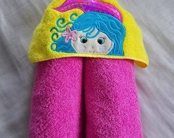 Kids Hooded Towel.Mermaid Hooded Towel,Girls Hooded Towel,Childs Hooded Towel,Personalized Kids Hooded Towel,Hooded Bath Towel,Kids Gift