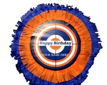 Nerf pinata target- custom made large birthday party pinata 16 x 4 or 16 x 6 inches centerpiece.your name on the pinata.