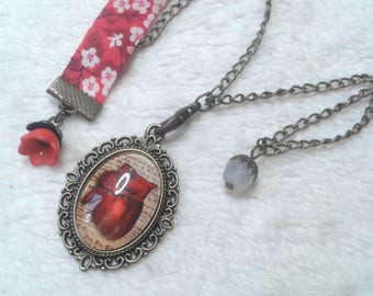 Liberty Cabochon heart to heart necklace
