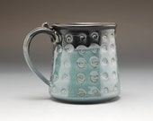 Pottery Mug Metallic  Blu...