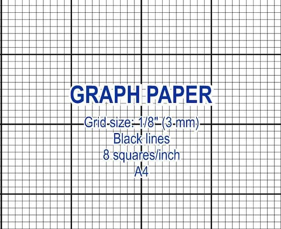 Graph Paper Printable  Mm Grid Cross Stitch Design  Squares Per