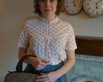 Women's polka dot blouse