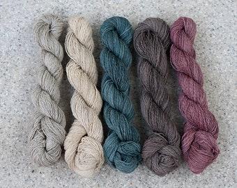 DEVI - Baumwolle Leinen Brennnessel - Strickgarn, Garn - pflanzegefärbt, Pflanzenfarbe - Stricken - Häkeln - Special Edition
