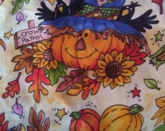 Scrubs -Large Scarecrow in Fall