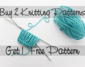 Buy 2 Knitting Patterns Get 1 Free Knitting Pattern