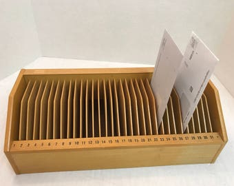 Wood 31 Day Slotted Bill/Mail Organizer