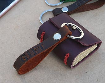 Mens Personalized Keychain, Leather Keychain, Gift Keychain, Personalized Key Fob, Custom Keychain, Monogram Keychain