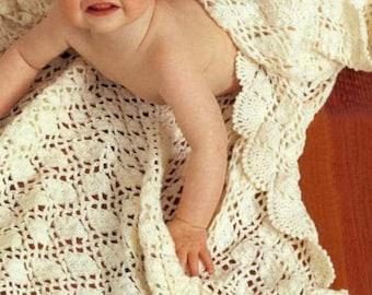 Crochet Baby Shawl Gardenia by Patons