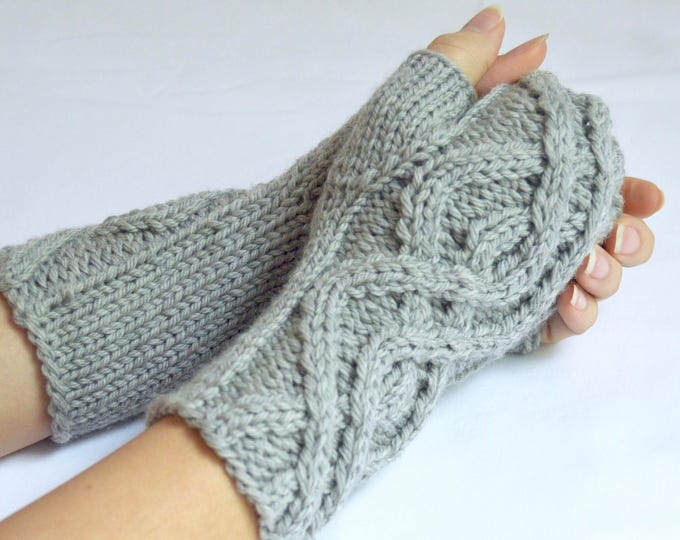 "Custom Handcrafted ""Winding Path"" Fingerless Gloves"
