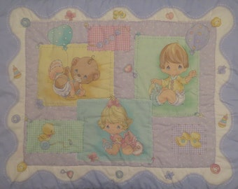 Vintage Precious Moments Crib comforter
