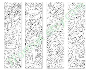 Bookmarks Coloring Printable, Instant Download. 4.