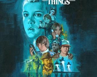 Stranger Things, Stranger Things Wall Art, Stranger Things Print, Stranger Things Poster Art, Eleven Art, Eleven Prints, The Upside Down Art