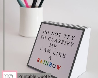 Rainbow Gay Pride, Quote Blocks, 3D Digital Paper, Motivation Quotes, Gay  Home