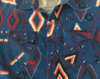 1990s western shirt youngbloods x l