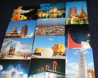 19 Japan Postcards,Japanese Postcards, Osaka Japan,UNUSED, Expo Postcards, World Expo, Expo Postcards, Save the Date Postcards