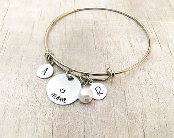 Mother's Day Personalized Gift - Mom Bracelet with Kids Names - Personalized Mom Bracelet - Mother's Day from Daughter