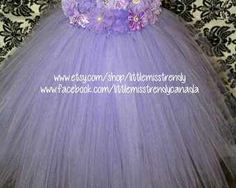 Lilac Flower Girl Dress, Lilac Tutu Dress, Lavender Tutu Dress,Light Purple Couture Tutu Dress, Lilac Couture Flower Girl Dress, Flower Girl
