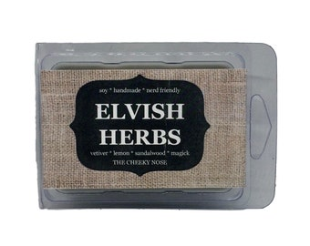 Vetiver Wax Melts - Elvish Herbs - The Cheeky Nose - Vetyver Wax Melts - Gift Under 5 - Book Lover Gift - Book Wax Melts - Scented Wax Tarts
