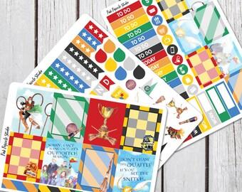 Quidditch Weekly Planner Sticker Kit For Erin Condren Life Planner Vertical Harry Potter