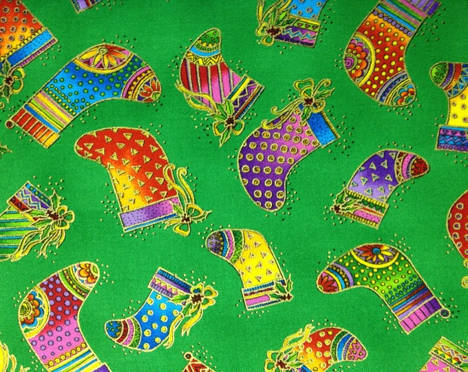 Fancy Stockings 100% cotton fabric, sold by the yard #412
