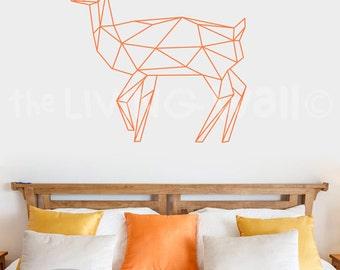 Geometric Deer Decals Wall Art, Geometric Animals Woodland Home Decor Wall Stickers Deer Wall Decal Bedroom, Australian Made