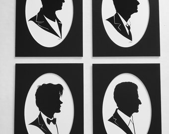 Doctors 9-12 silhouette print set