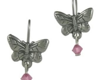 Butterfly Crystal Earrings - LT539RQ