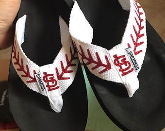 KC Baseball Flip Flops • Customized with your Players Number or Favorite Team